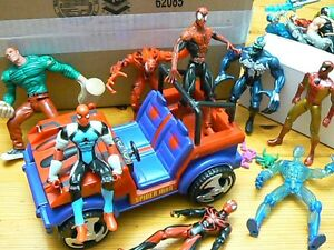 Spiderman Action Figures and Vehicle