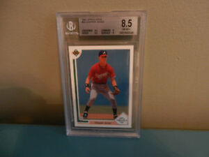 Upper Deck MLB Chipper Jones Rookie Card 1991 BGS 8.5 NM-MT+
