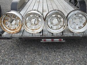15x7 Ford Truck White Spoke Rims