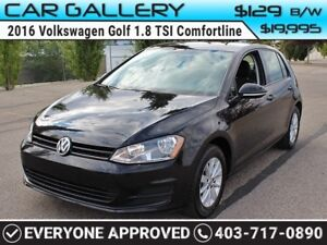 2016 Volkswagen Golf TSI w/BackUp Cam $129B/W YOU'RE APPROVED-QU