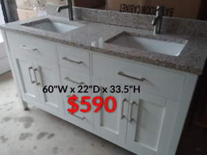 "60"" Bathroom Vanity(and other sizes) - Pick Up Price - FULL SET"
