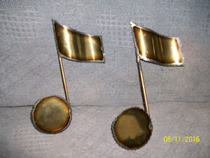 Wall decor - Brass Musical notes