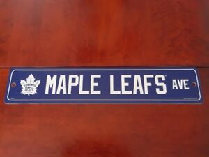 "BRAND NEW - 4"" X 19"" TORONTO MAPLE LEAFS ROAD SIGN"