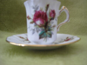 Demitasse, Hammersley in the Grand Mother's Rose pattern.