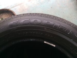 SET OF BRDGESTONE ECOPLA 195/65/15 TIRES FOR SALE