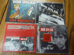 Qty 4 Bob Dylan CD albums.