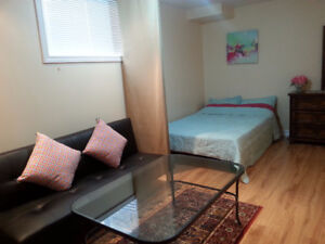 All inclusive Basement bachelor suite(Female Professionals only)