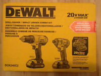 Dewalt 20V Cordless Drill and Impact Driver, Brand New in box