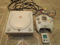 Sega Dreamcast system with some games