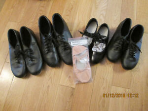 Tap shoes and ballet slippers
