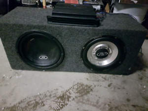 "10"" subwoofers and 2 amps"