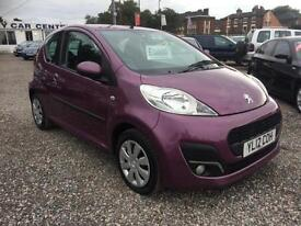 2012 PEUGEOT 107 1.0 Active 3dr VERY LOW MILEAGE