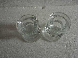 Set of 2 glass candlestick holders brand new London Ontario image 5
