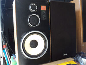 AKAI SPEAKERS ~ model CW-T77 ~ could re-foam ~ made in canada