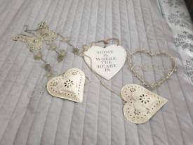 Shabby chic ornaments