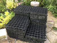 Shed base grasscrete blocks