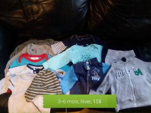 Lot 3-6 mois, bébé garçon, hiver