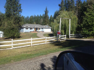 beautiful rancher 3.7acres w\shop close to town and silverstar