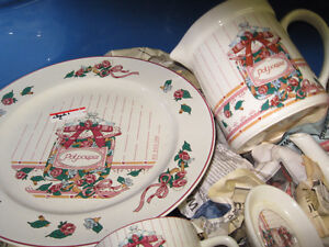 Large Dinnerware 8 place Setting Set  For Sale  Plus Canister