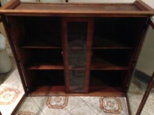 GLASS DISPLAY CASE OR HUTCH