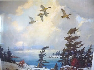 "Iconic Painting by Frank Panabaker ""Winter Storm"" 1957 Signed/Nu Stratford Kitchener Area image 3"