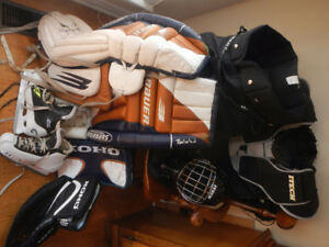 full set adult size goalie equipment