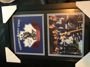 1967 leafs champs signed by red jelly and George Armstrong