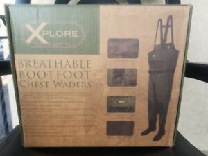 breathable foot chest waders brand new in a box