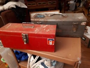 Old metal hardware/ tool boxes $20 each