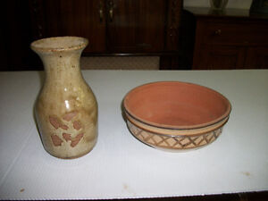 Choice of 1970's Pottery Bowl or Vase