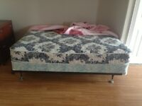 Queen size bed and steel support