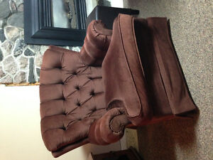 Sofa and chair brown