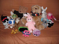 Lot of stuffed animals and carrier from smoke free home Watch Sh