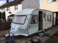 Abi ace caravan with full awning