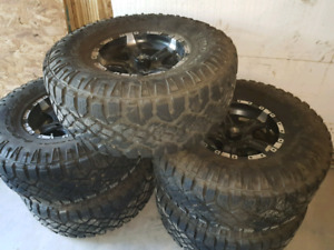 "33x12.5 tires with alloy 15"" wheels (5 wheel/tires)"