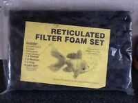 Reticulated filter foam set for fish tank filter/pond