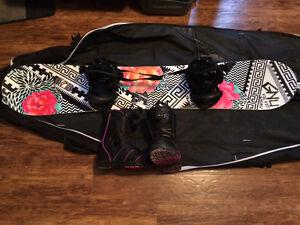 Gnu 143 board gnu step in bindings and boa Solomon boots