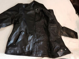 EA Collection, Italy Style Black Faux Leather Jacket