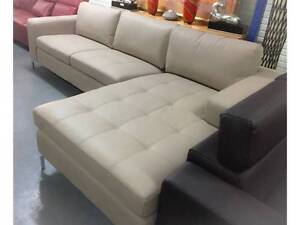 Montana L Shape Lounge Suite RHF Chaise Aria Putty colour Condell Park Bankstown Area Preview