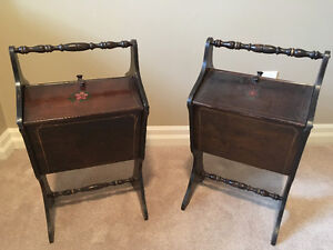 Vintage sewing notions cabinet