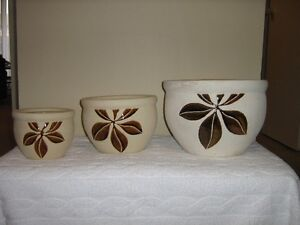 Set of 3 Ceramic Planters