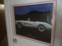 Classic Cars framed poster