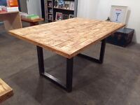 Large Industrial Kitchen Dining Table