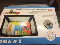 Travel cot play mat. Brand new