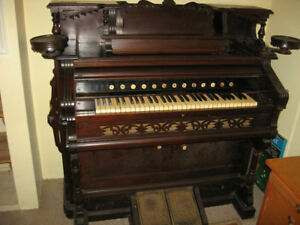 Antique Pump Organ with Beautiful Woodwork