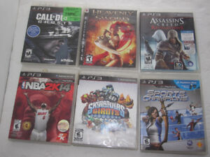 Six PS3 Games, $10 for all