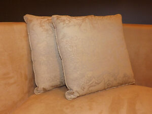 pair of throw cushions pillows  very classy look