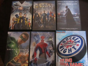 Superhero movies: X-Men First Class, Dark Knight, Spider-Man