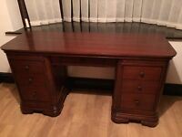 Real solid wood desk / dressing table