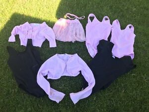 Dance body suits and a skirt